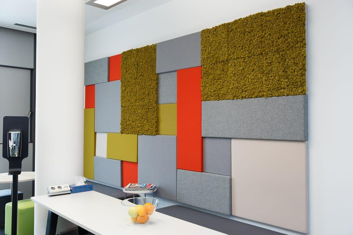 Wanddesign mit Moos und Akustikpaneele | Islandmoos GREENIN | NATURALDESIGN.at