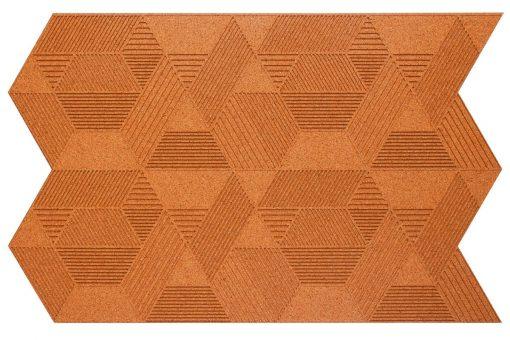 kork wandpaneele geometric copper