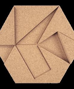 kork wandbekleidung hexagon ivory