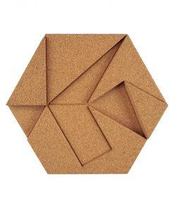 kork paneele hexagon