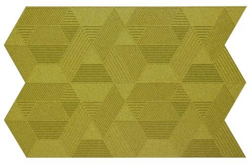 geometric wandpaneele olive