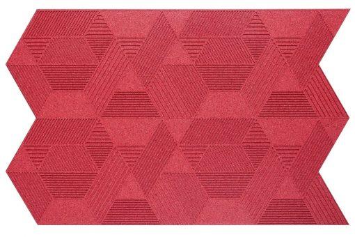 wandpaneele geometric muratto red