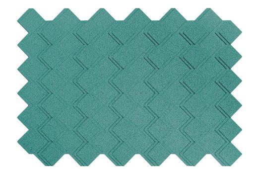 korkplatten step turquoise