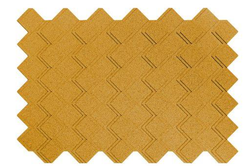 korkplatten wandpaneele step yellow