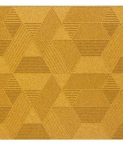 wandpaneele geometric yellow