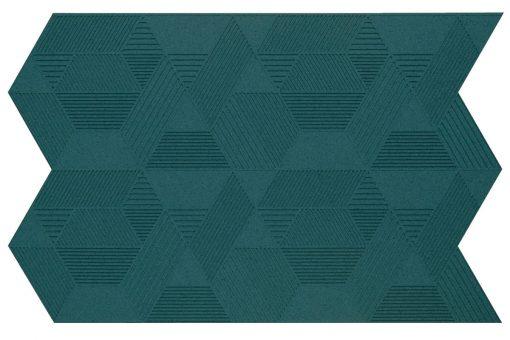 wandpaneele geometric emerald